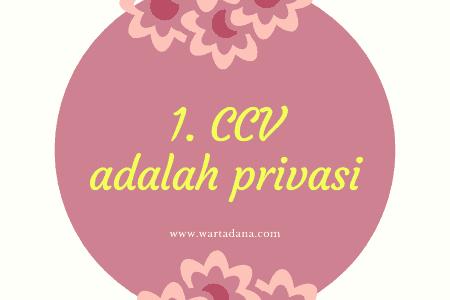 CCV adalah privasi