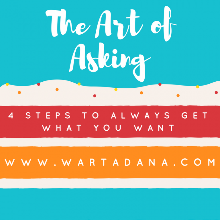 4 STEPS TO GET WHAT YOU WANT (THE ART OF ASKING)