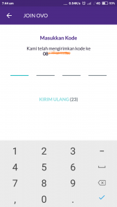 kode SMS buat akun OVO