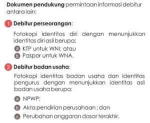 dokumen permintaan laporan informasi debitur