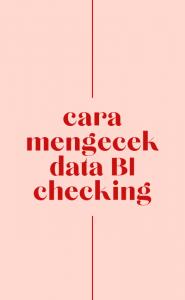 MEMINTA DATA BI CHECKING