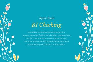 pengertian BI Checking