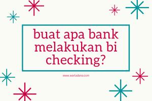 untuk apa bank bi checking?