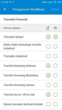 pengaturan notifikasi aplikasi perbankan jenius btpn
