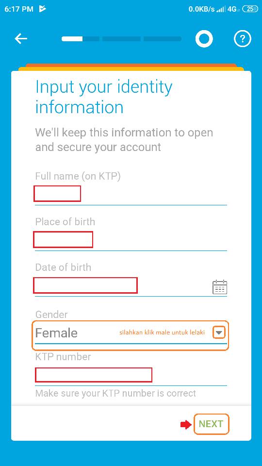 29 memasukkan data identitas