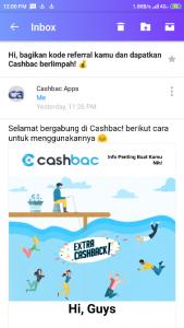 Email Akun Cashbac
