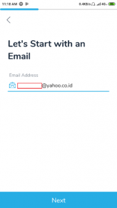 Data Email Registrasi Cashbac