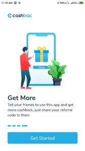 Menggunakan Aplikasi Cashbac