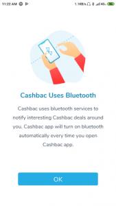 Cashbac menggunakan bluetooth