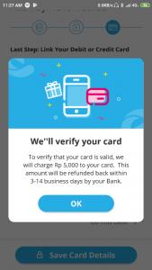 Verifikasi Metode Pembayaran Cashbac