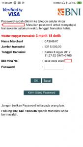Verifikasi Pembayaran Cashbac