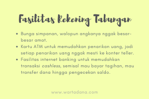 fasilitas rekening tabungan