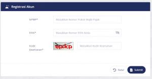 registrasi akun djp online
