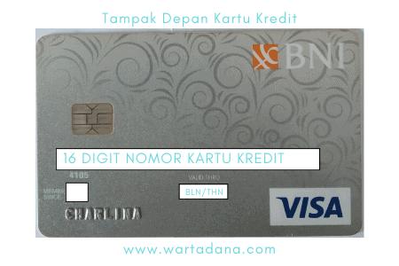 tampak depan kartu kredit