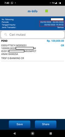 bukti transfer uang dari gopay