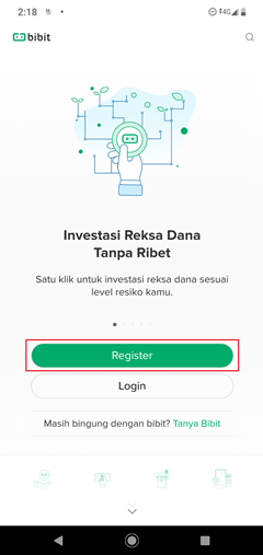 cara registrasi bibit