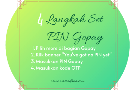 cara set pin gopay