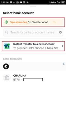 cara transfer uang dari gopay
