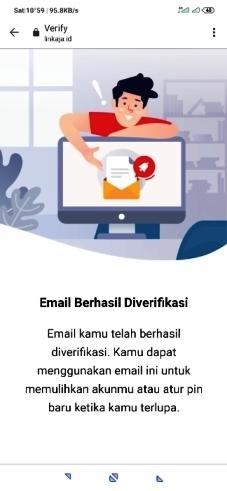 verifikasi email linkaja berhasil