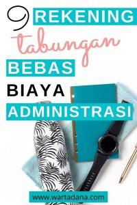 Rekening free biaya administrasi bulanan