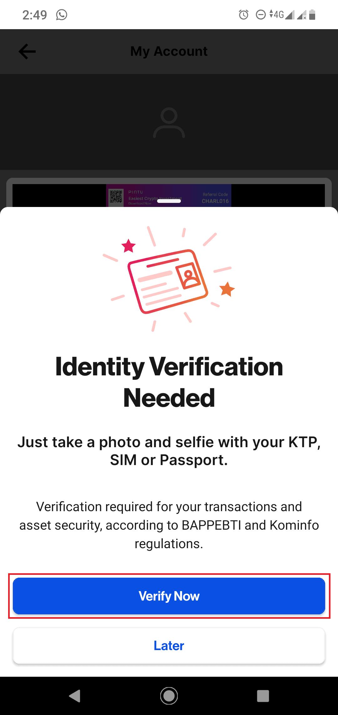 verifikasi pintu exchange