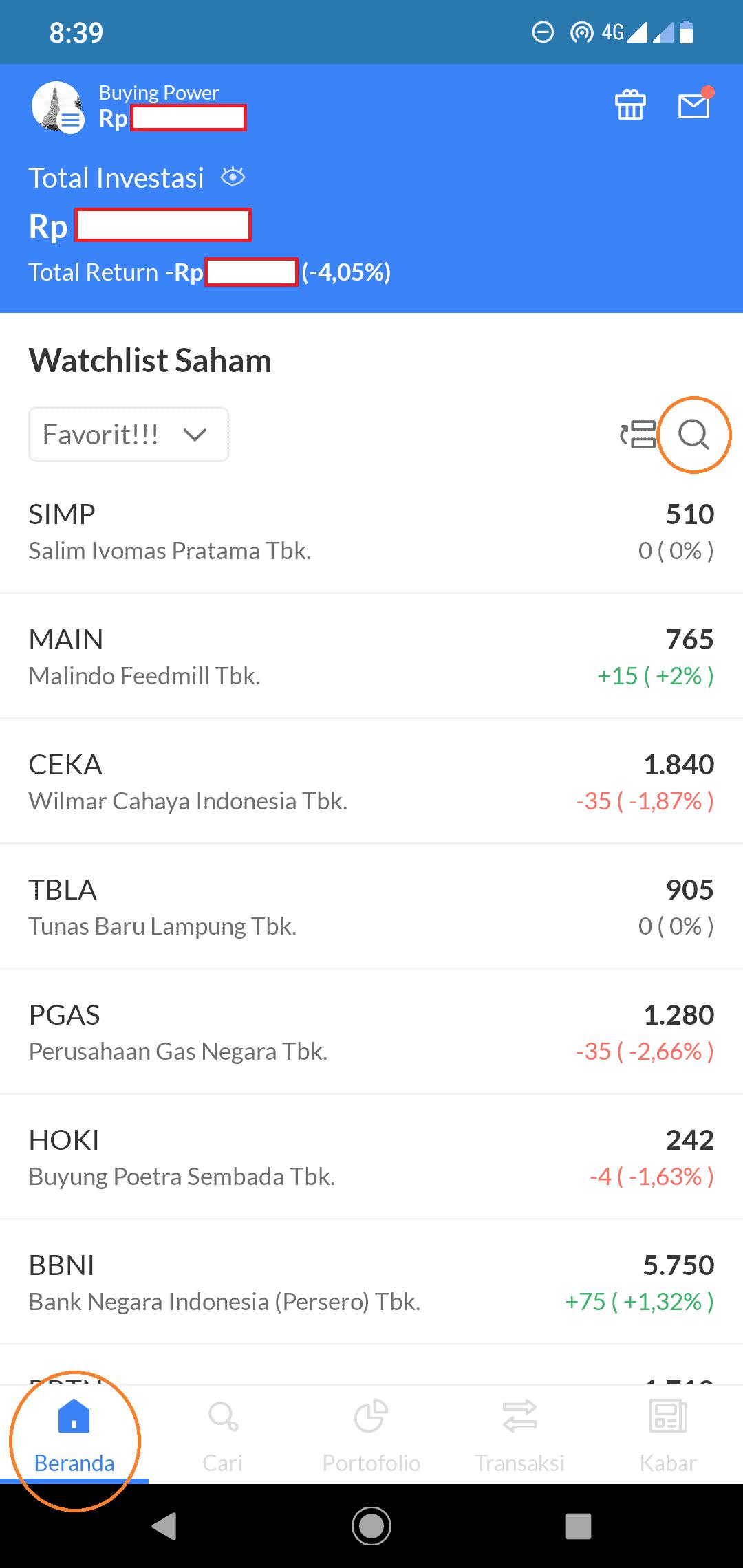 beranda Ajaib saham