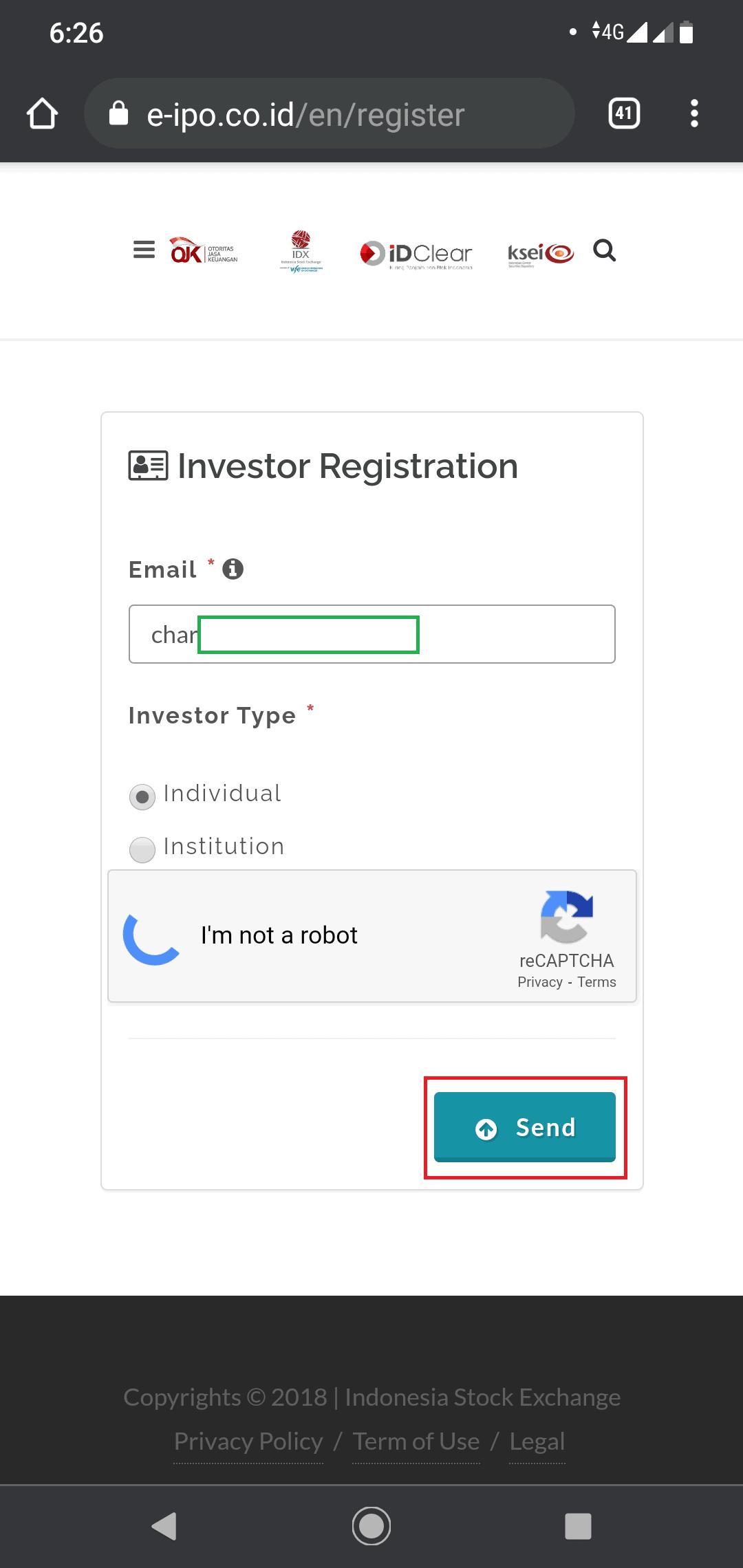 registrasi investor
